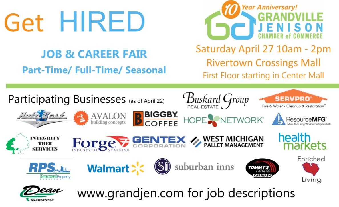 Job & Career Fair - Saturday, April 27 - Grandville Jenison