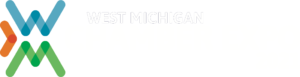 West Michigan Chamber Expo 2021 with white lettering